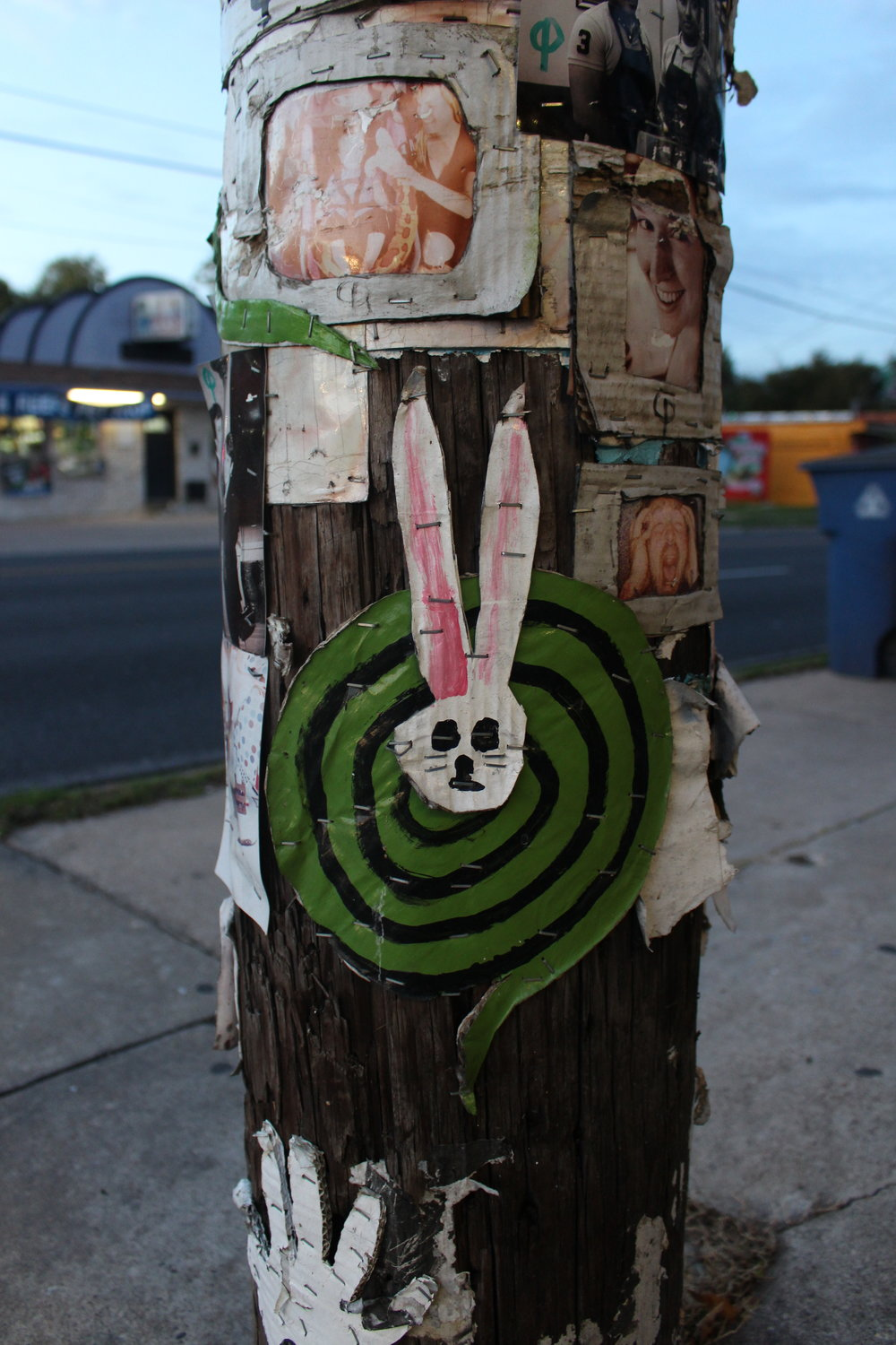 """The sign of the artist """"Rabbit Snake"""" is seen on South First Street."""