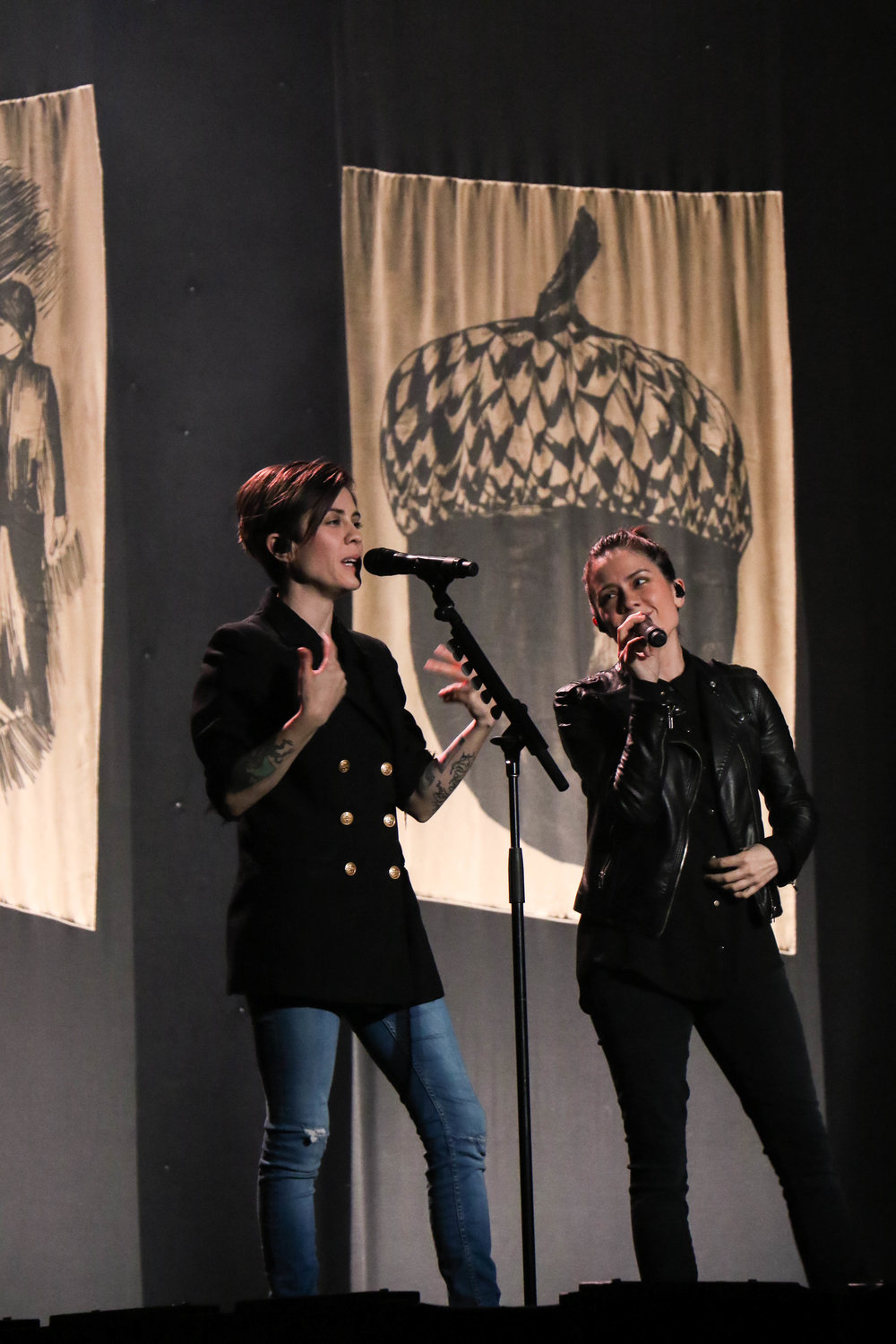 Tegan & Sara spoke of their newest endeavor, the Tegan & Sara Foundation, which was launched in the fall of 2016.