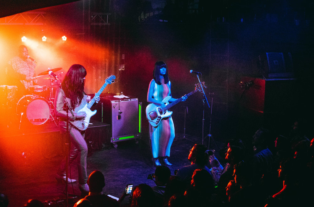 The Houston trio, Khruangbin, consists of Donald Johnson on drums, Mark Speer on guitar and Laura Lee on bass.