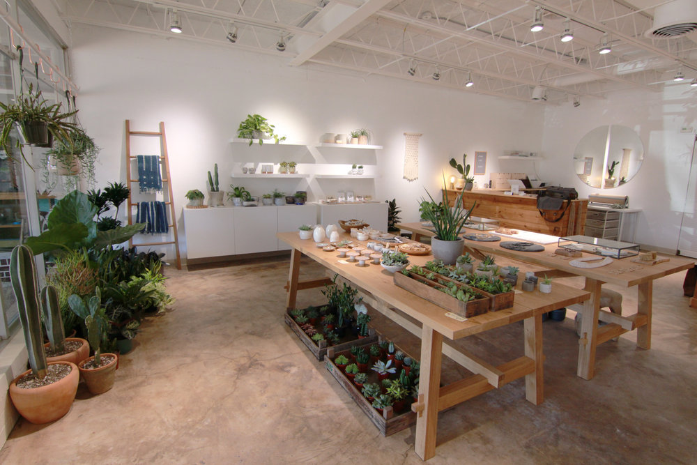 Flourish owner Rachel Roberts began her shop because of her passion for art and design. Not only does she sells plants at her shop, Roberts also creates jewelry pieces.