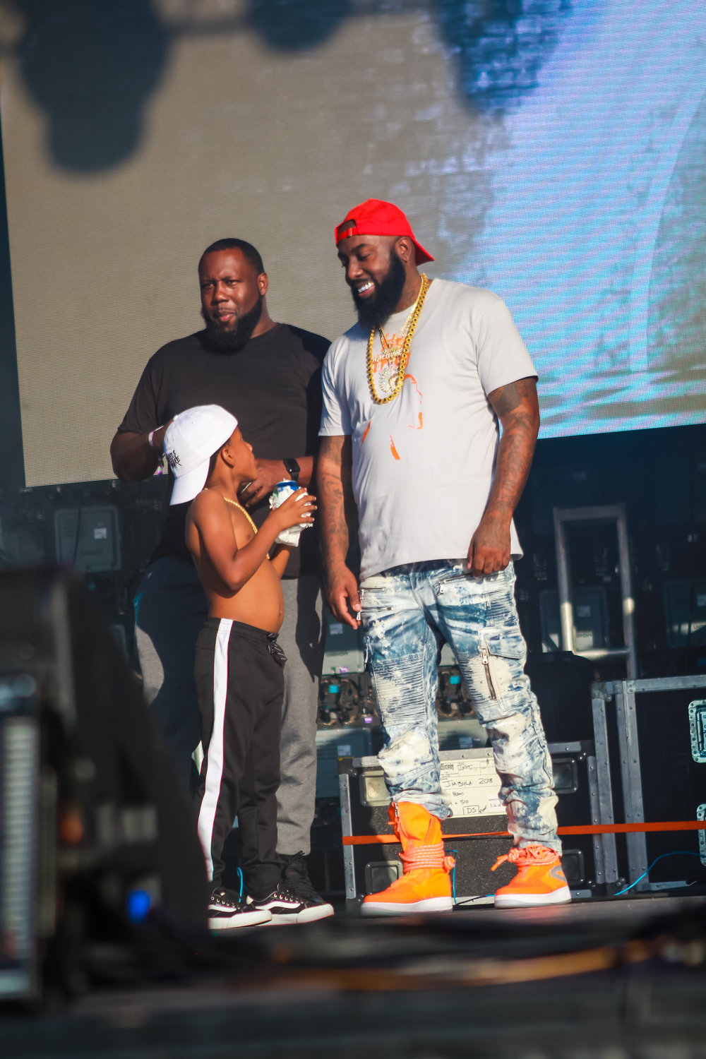 Trae Tha Truth and his son were on stage for most performances.