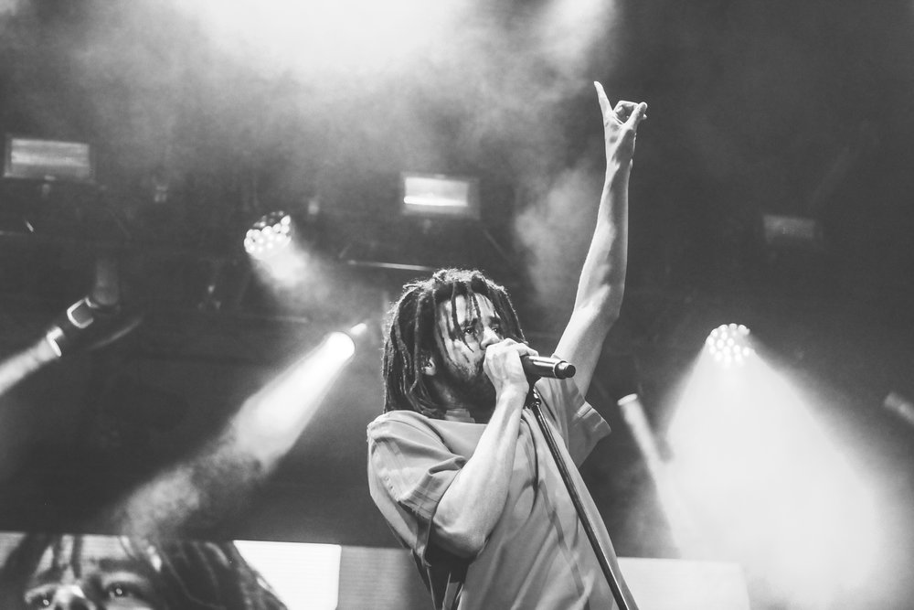 "J. Cole started his set by performing some of his older songs such as ""Deja Vu""."
