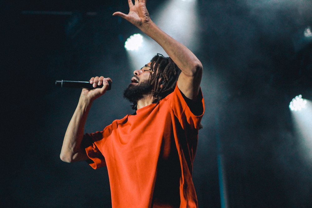 "J. Cole's concert was expected to be the show-stopper with the recent release of his album ""KOD""."