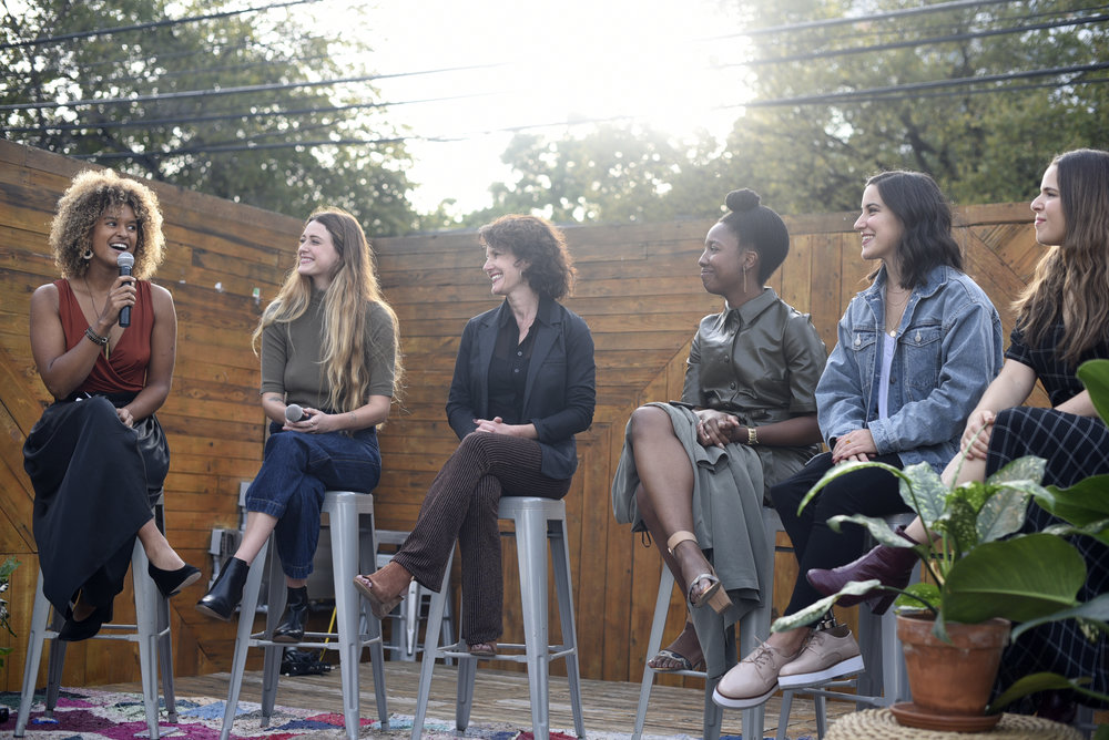 """Woke Beauty brought together six women who are in the business of """"cultivating beauty"""" to discuss their definition of beauty. Panelists included moderator and founder of Woke Beauty, Riley Blanks, apothecary Cassie Courtney, practical alchemist Alana Cooklin, author and activist Virginia Cumberbatch, dietician Claire Siegel, and Paralympian Lacey Henderson."""