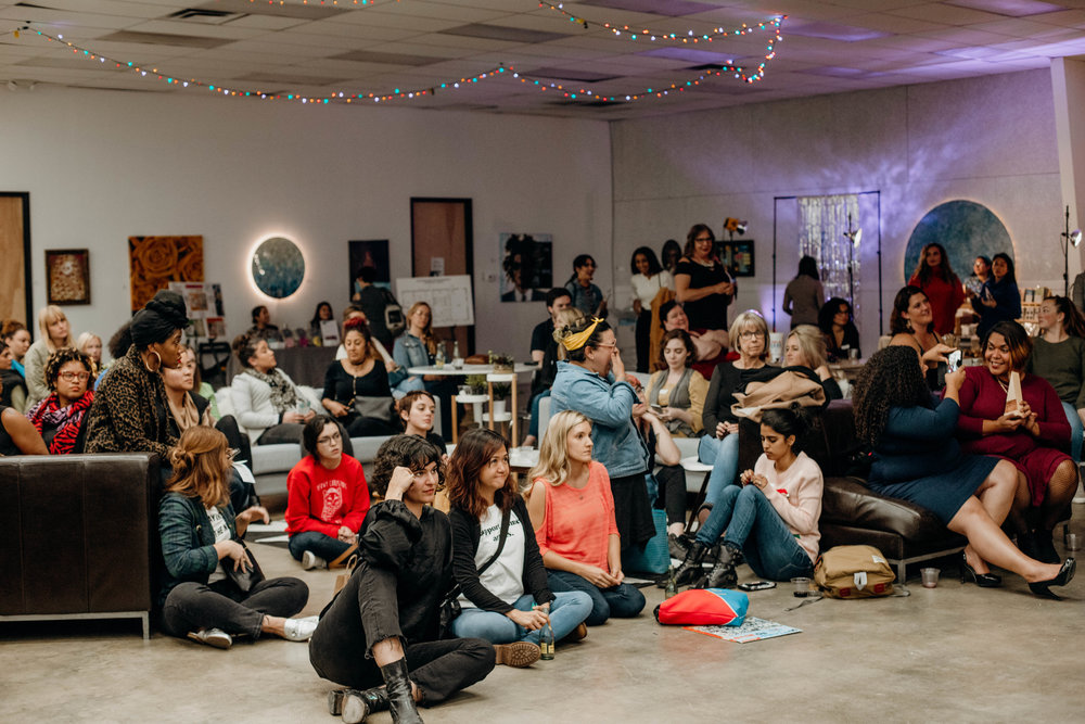 The December Meet-up attracted a full crowd of creatives and entrepreneurs.