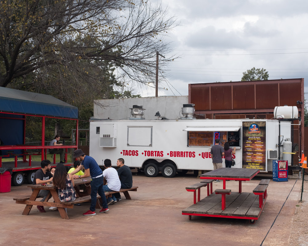 The Las Trancas food trailer on East Cesar Chavez