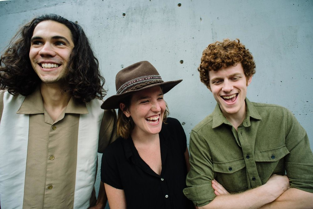 David McDonald (guitar and vocals), Madeline Froncek (upright bass and vocals) and Micah Monteko (mandolin and vocals).