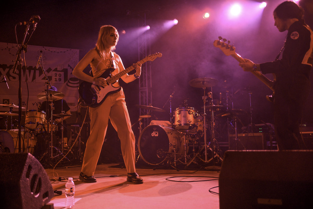 Cherry Glazerr is a rock band based in LA. Clementine Creevy is the lead singer and guitarist along with drummer Tabor Allen and bassist Devin O'Brien. They played the Tickemaster showcase on Thursday March 14th at Stubbs.