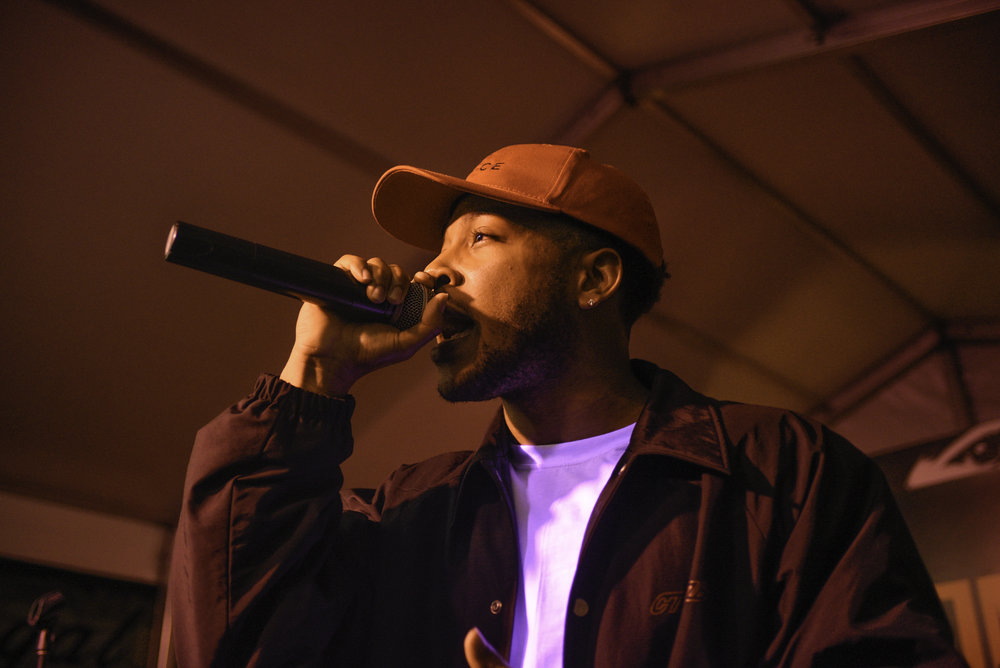 Rapper Jacob Latimore played at the Showtime house on Tuesday March 12. He is not only a rapper, he stars in a TV show called the Chi.