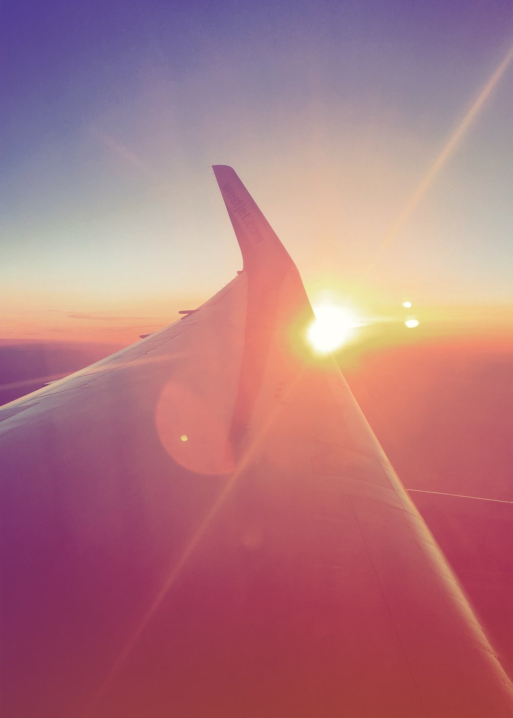Sunrise on the flight to London