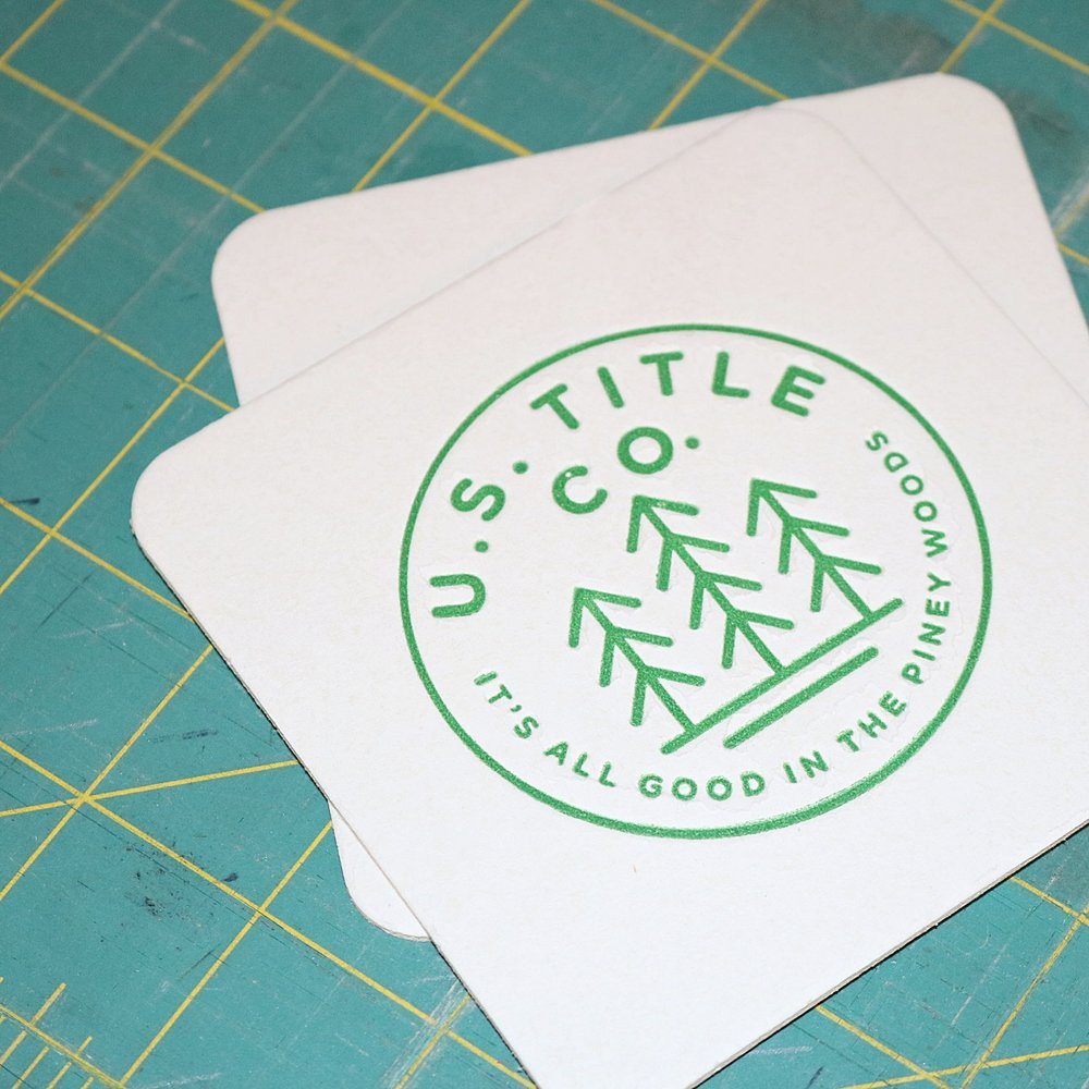 Customized Business Logo Coasters