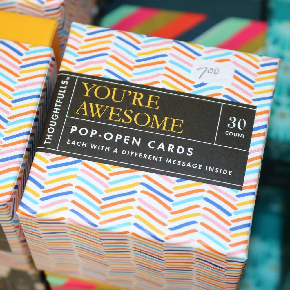 Encouraging Pop-Open Cards