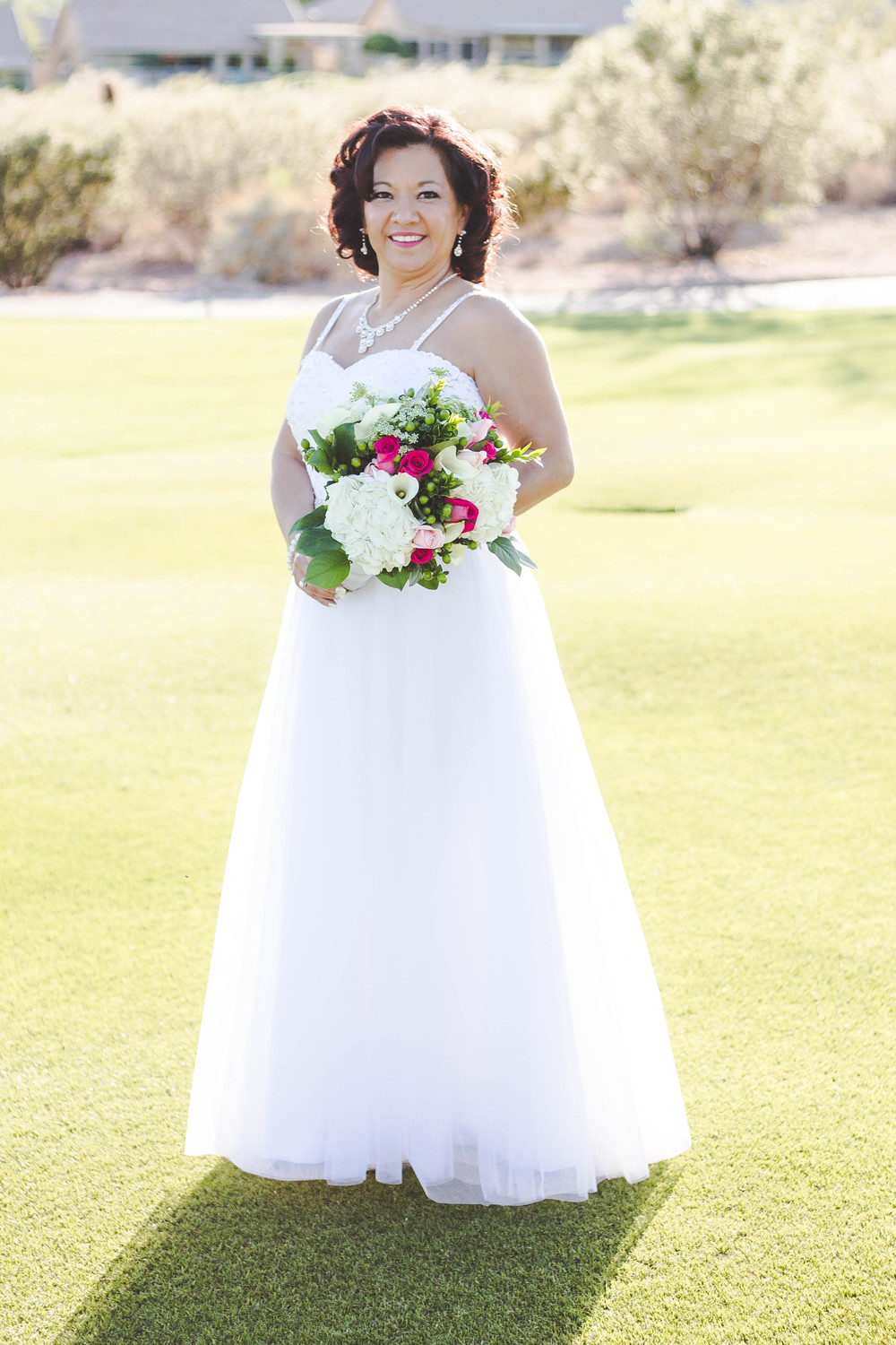 I just love this shot. This dress caught the light so beautifully! The bride looked like she was floating all day...