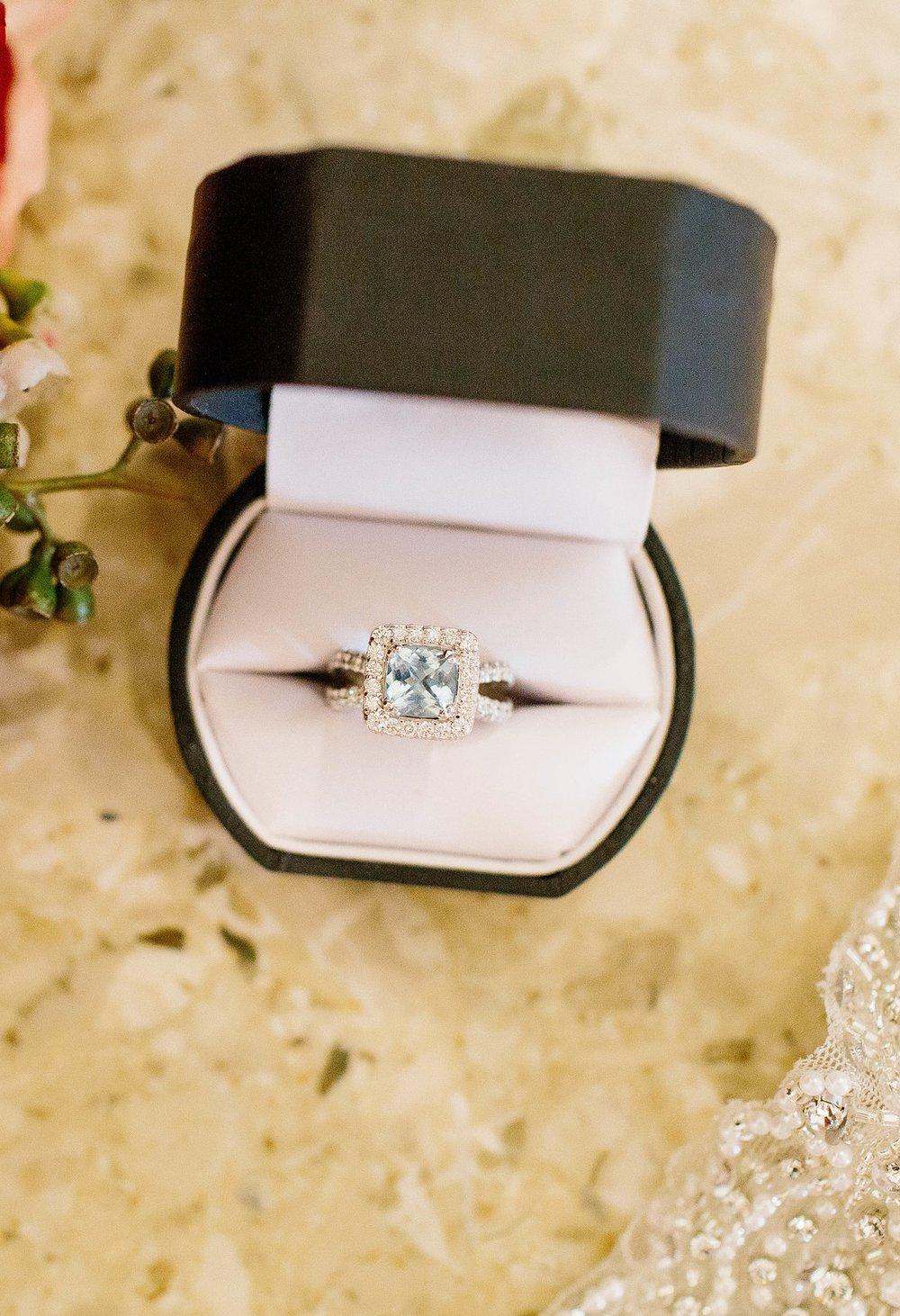 Aquamarine Engagement Ring- Arizona Wedding Photographer