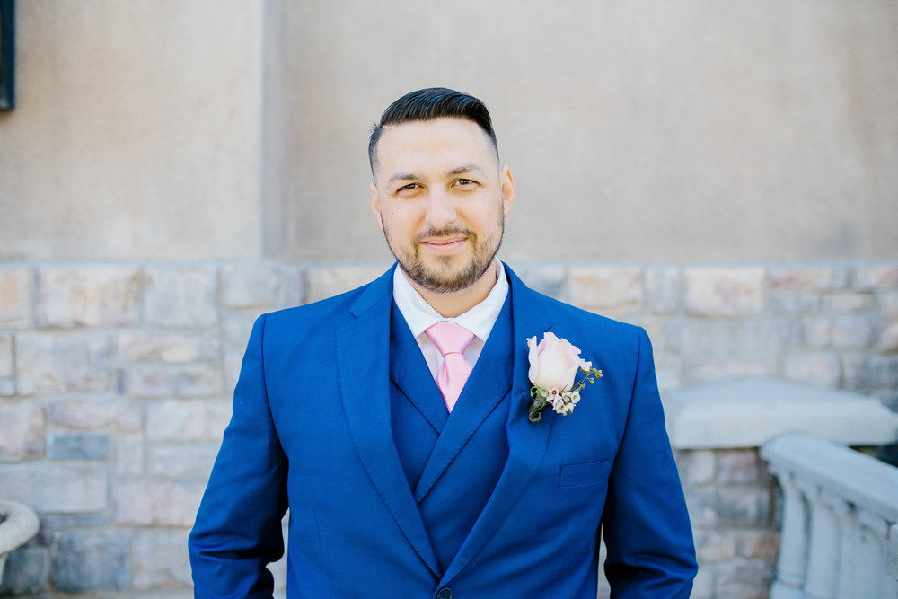 Groom Portrait at the Ashley Castle- Arizona Wedding Photographer