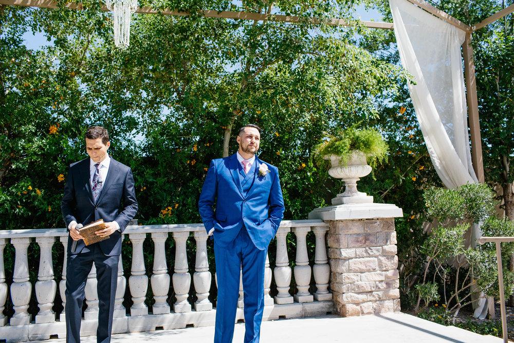 Groom's Reaction- Arizona Wedding Photographer