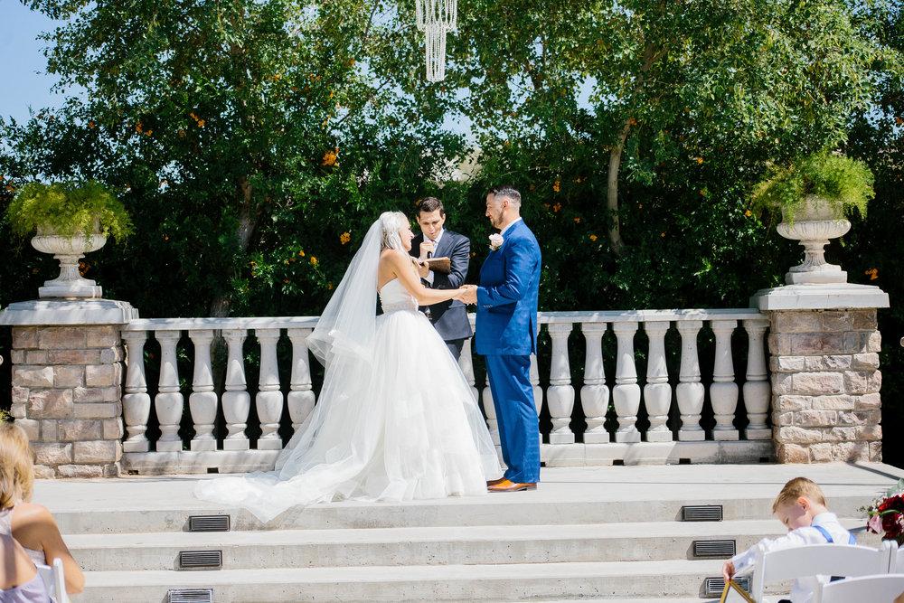 Ceremony at the Ashley Castle- Arizona Wedding Photographer