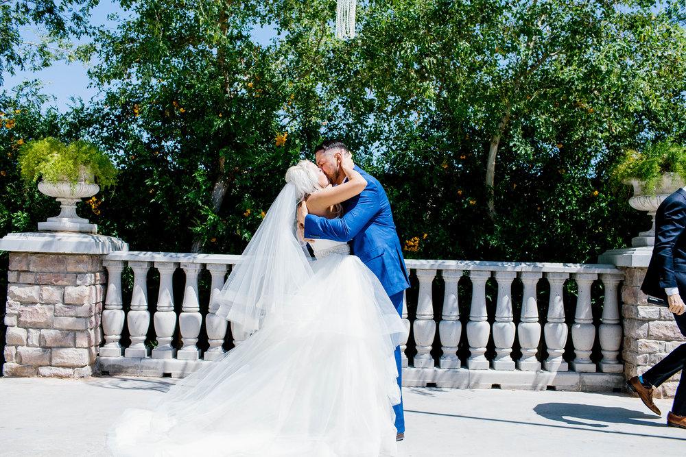 The First Kiss as Husband and Wife- Arizona Wedding Photographer