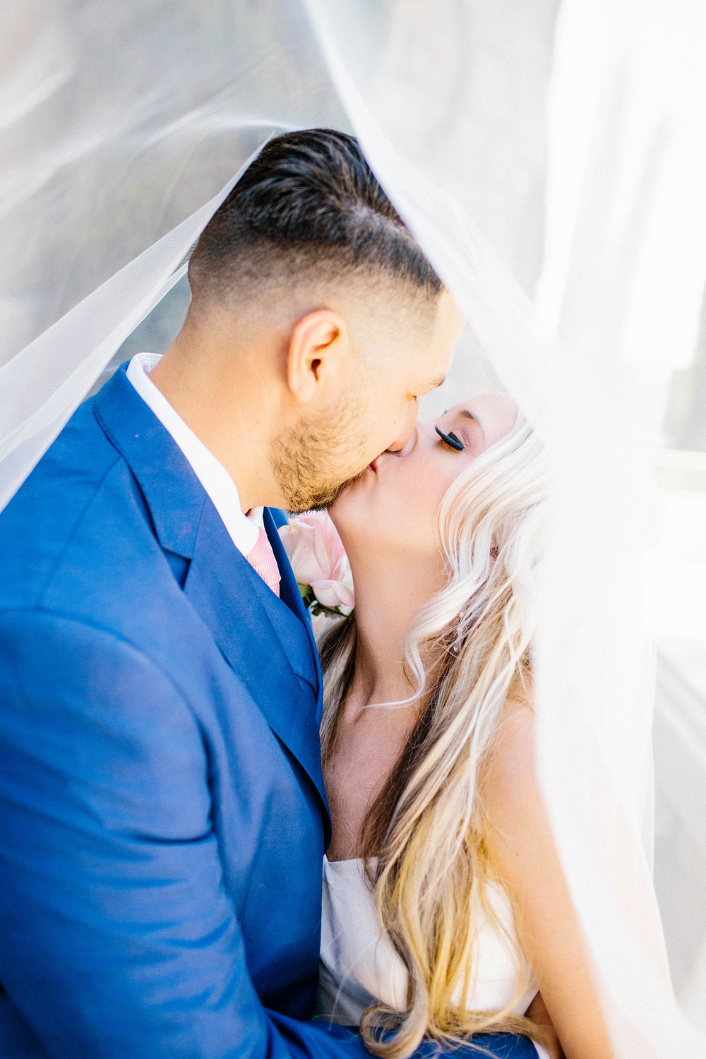 Under the Veil Shot- Arizona Wedding Photographer