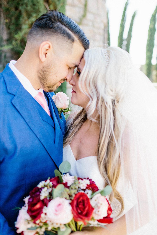 Bride and Groom intimate portraits- Arizona Wedding Photographer