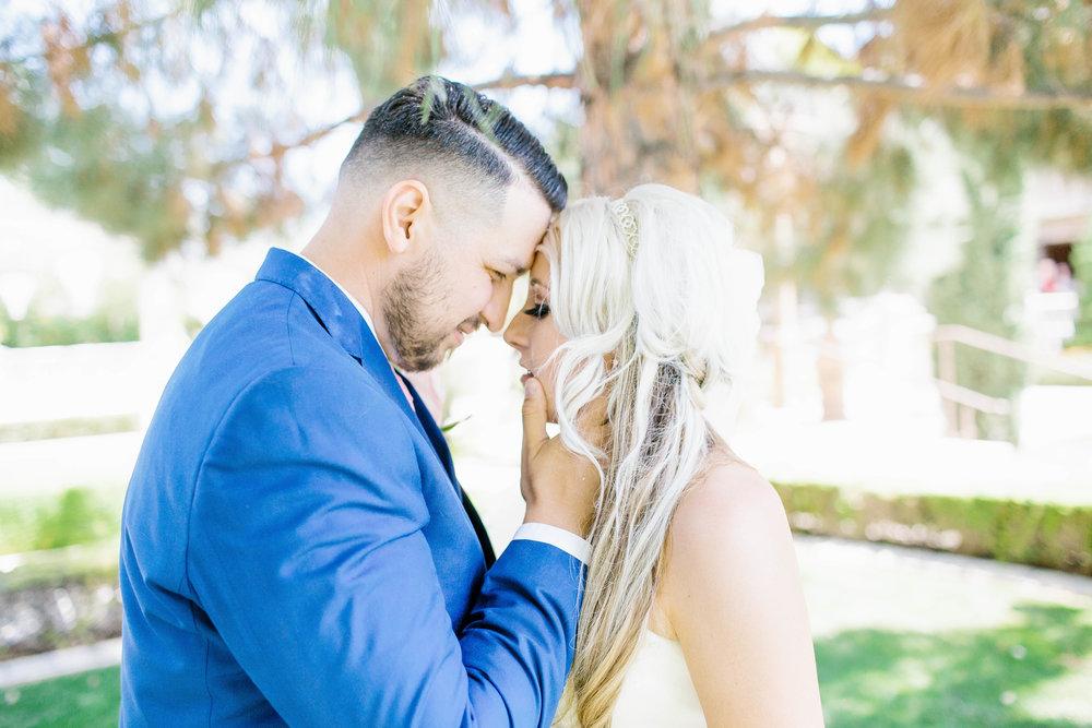 Bride and Groom intimate portraits at the Ashley Castle- Arizona Wedding Photographer