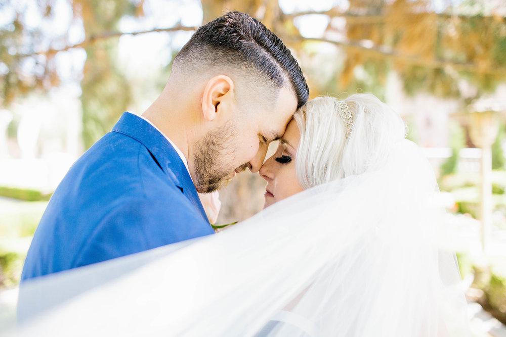 Bride's Veil catches the wind- Arizona Wedding Photographer