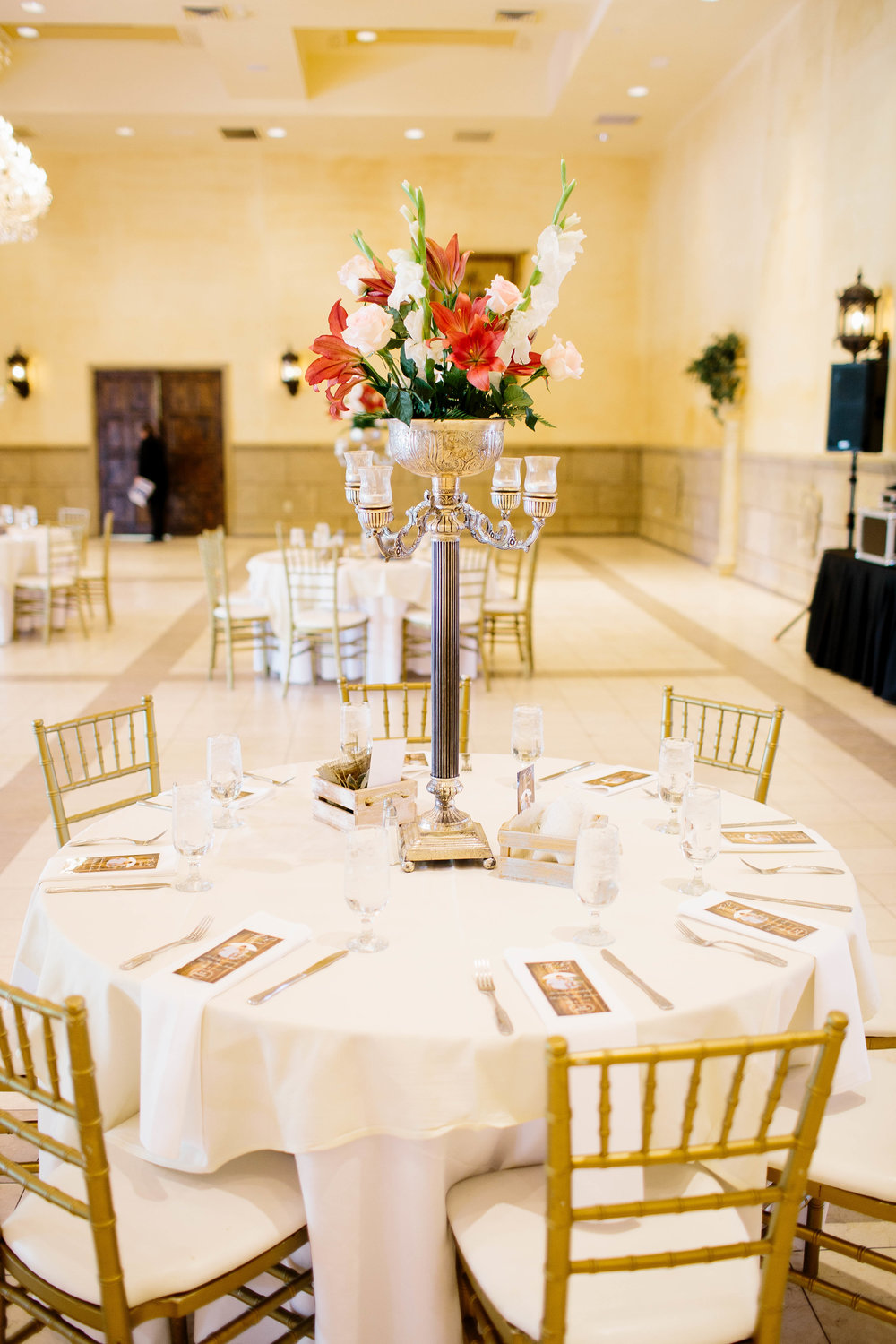 Reception Space at the Ashley Castle- Arizona Wedding Photographer