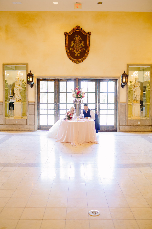 Reception Space at the Ashley Castle- Arizona Wedding Photographer