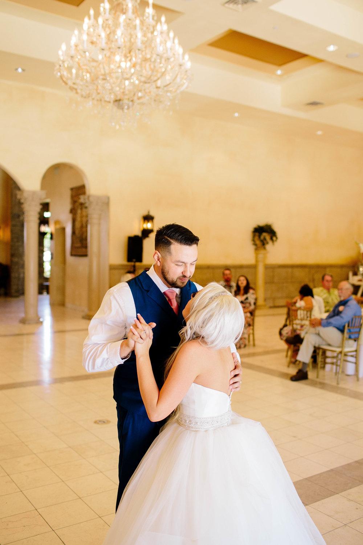 Bride and Groom First Dance- Arizona Wedding Photographer