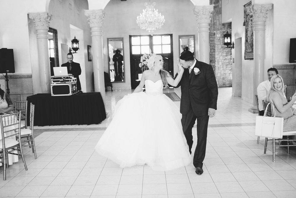 Bride and Groom Grand Entrance- Arizona Wedding Photographer