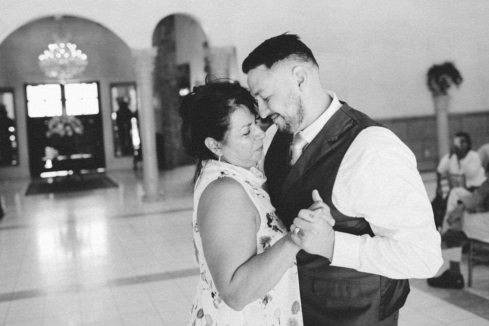 Emotional Mother Son Dance- Arizona Wedding Photographer