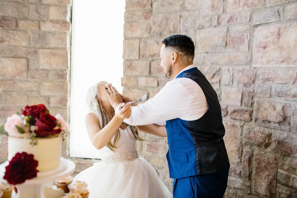 Wedding Cake Smash- Arizona Wedding Photogapher