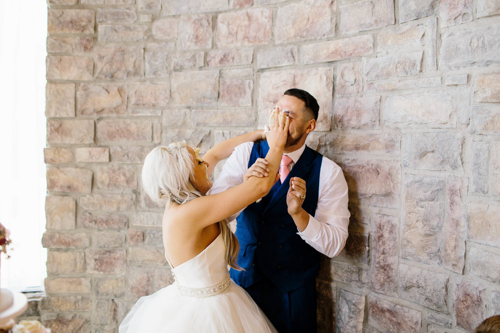 Wedding Cake Smash- ARizona Wedding Photogapher