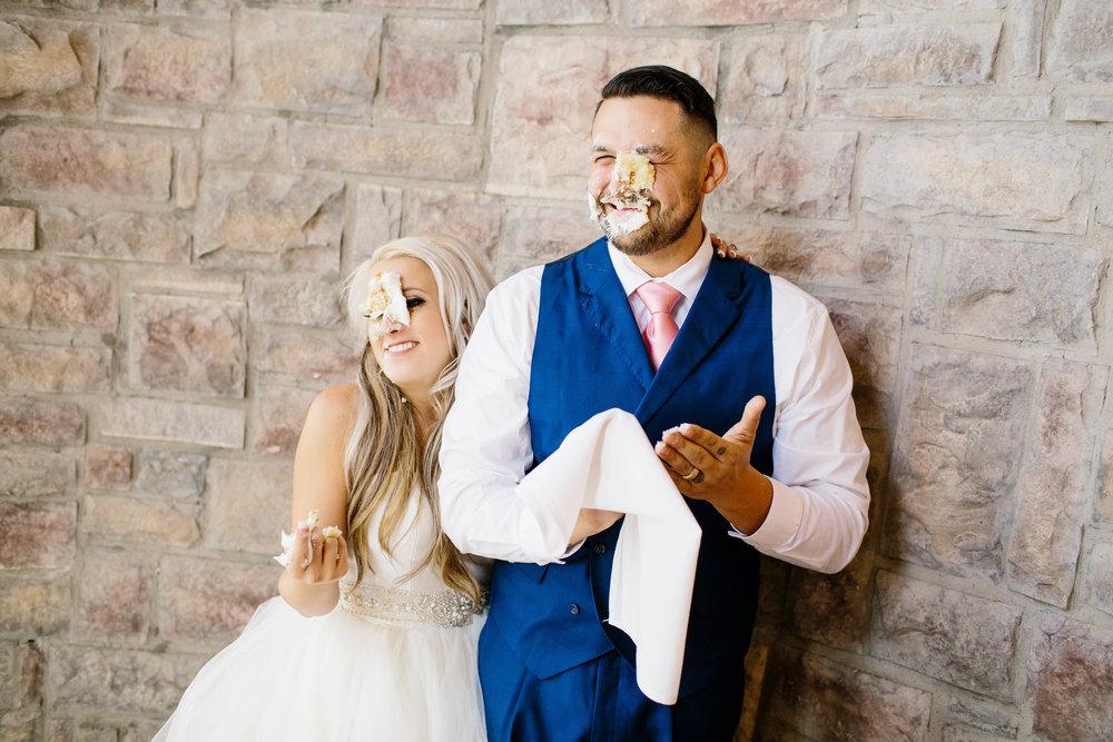 Wedding Cake Smash- Arizona Wedding Photographer