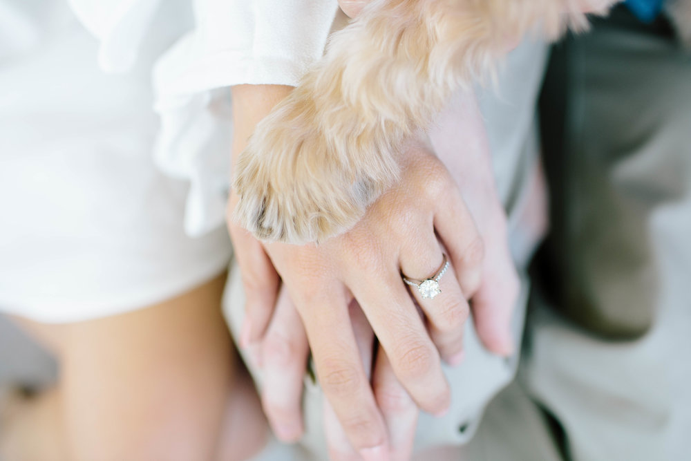 Old Town Scottsdale Engagement Session with puppy- Arizona Wedding Photographer