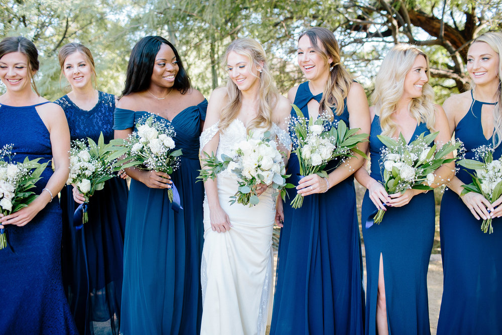 Navy Blue Bridesmaid Dresses- Arizona Wedding Photographer