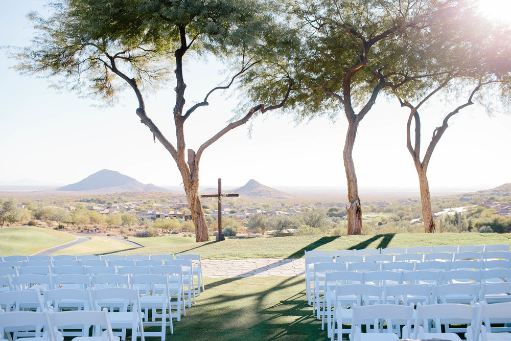 Eagle Mountain Golf Resort Ceremony- Arizona Wedding Photographer