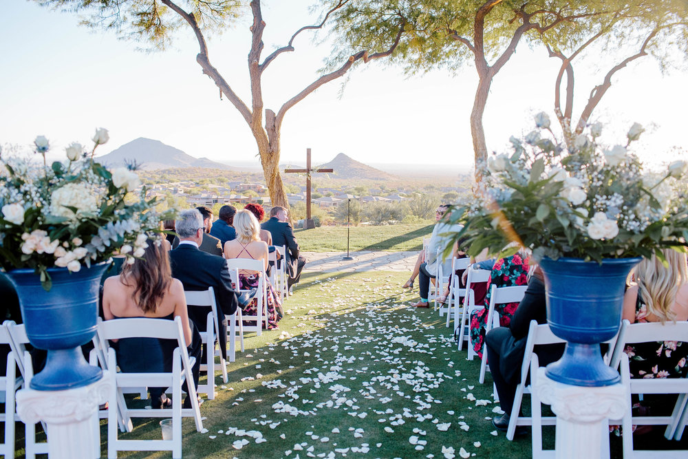 Eagle Mountain Golf Club Wedding Ceremony- Arizona Wedding Photographer