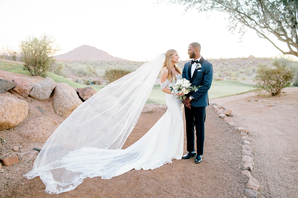 Eagle Mountain Golf Club Bride and Groom- Arizona Wedding Photographer