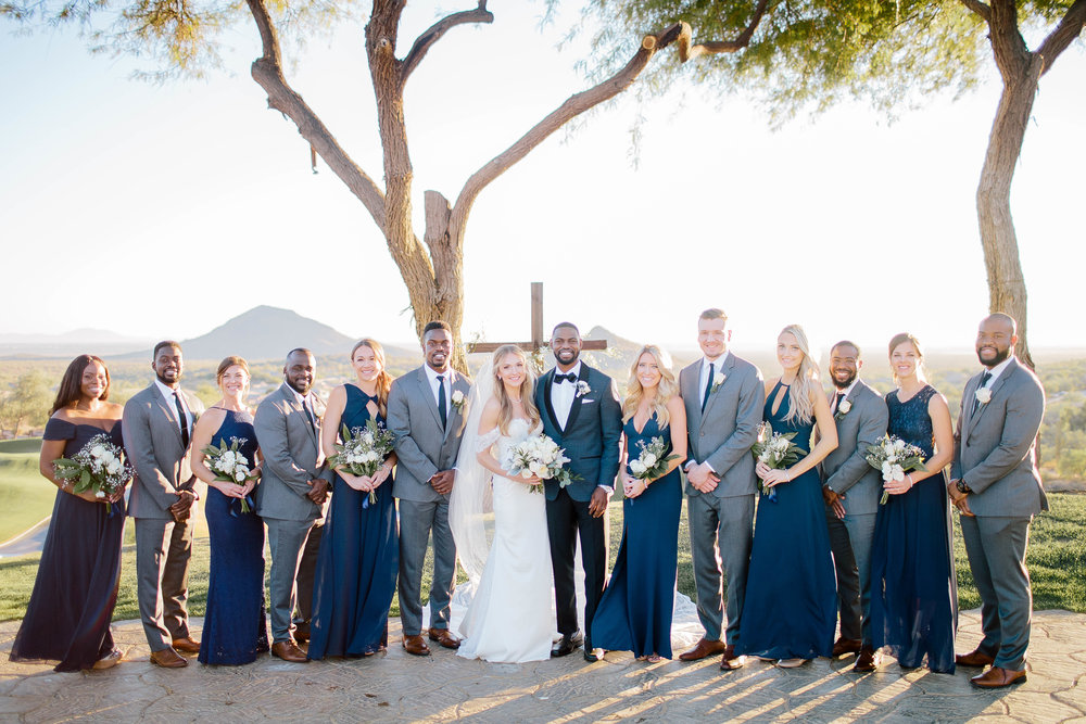 Eagle Mountain Golf Club Bridal Party- Arizona Wedding Photography