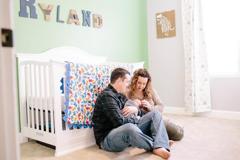 Dinosaur Nursery- Lifestyle Newborn Photography