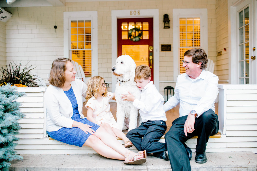 Family Lifestyle Photography- Front Porch Family Session- Boise Photographer- Boise Family Photographer- North End Neighborhood- North End Home- Home with Character- Historical Home- Fixer Upper- Idaho Family Photographer- Idaho Photographer