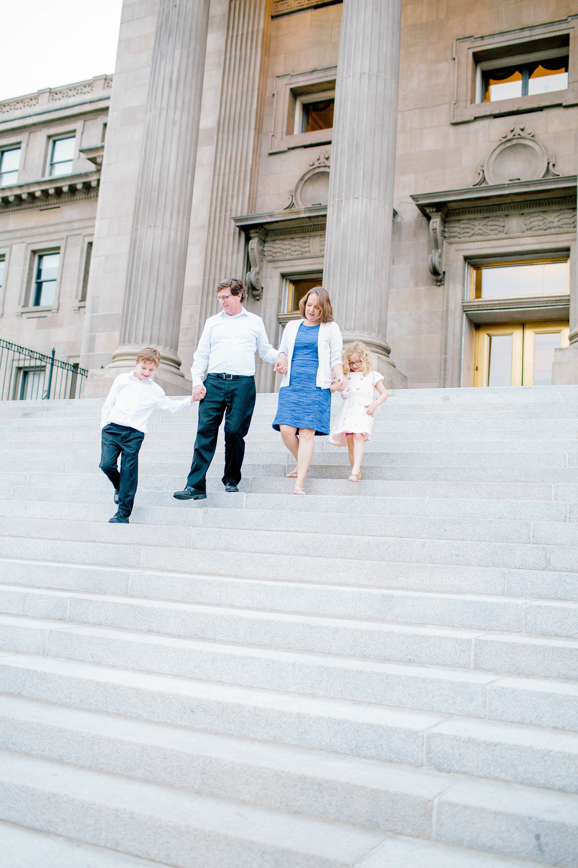 Boise Capital Building- Boise Capital Family Photos- Boise Capital Family Session- Boise Family Photographer- Idaho Family Photographer- Downtown Boise Family Session- North End- Downtown Boise