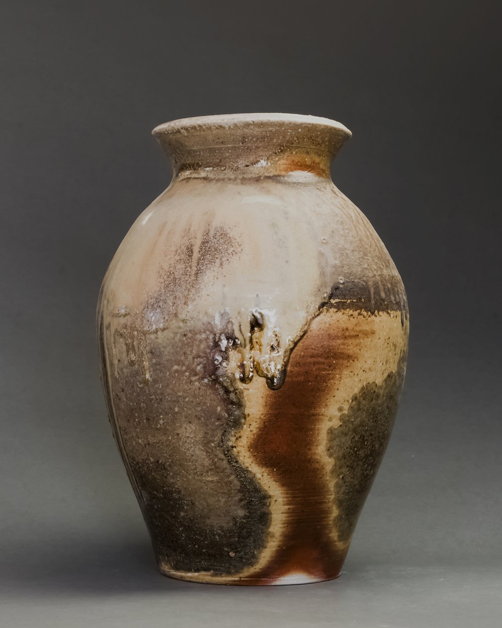 Wood fired vase by Charlie W.    Photography by Erin Berry