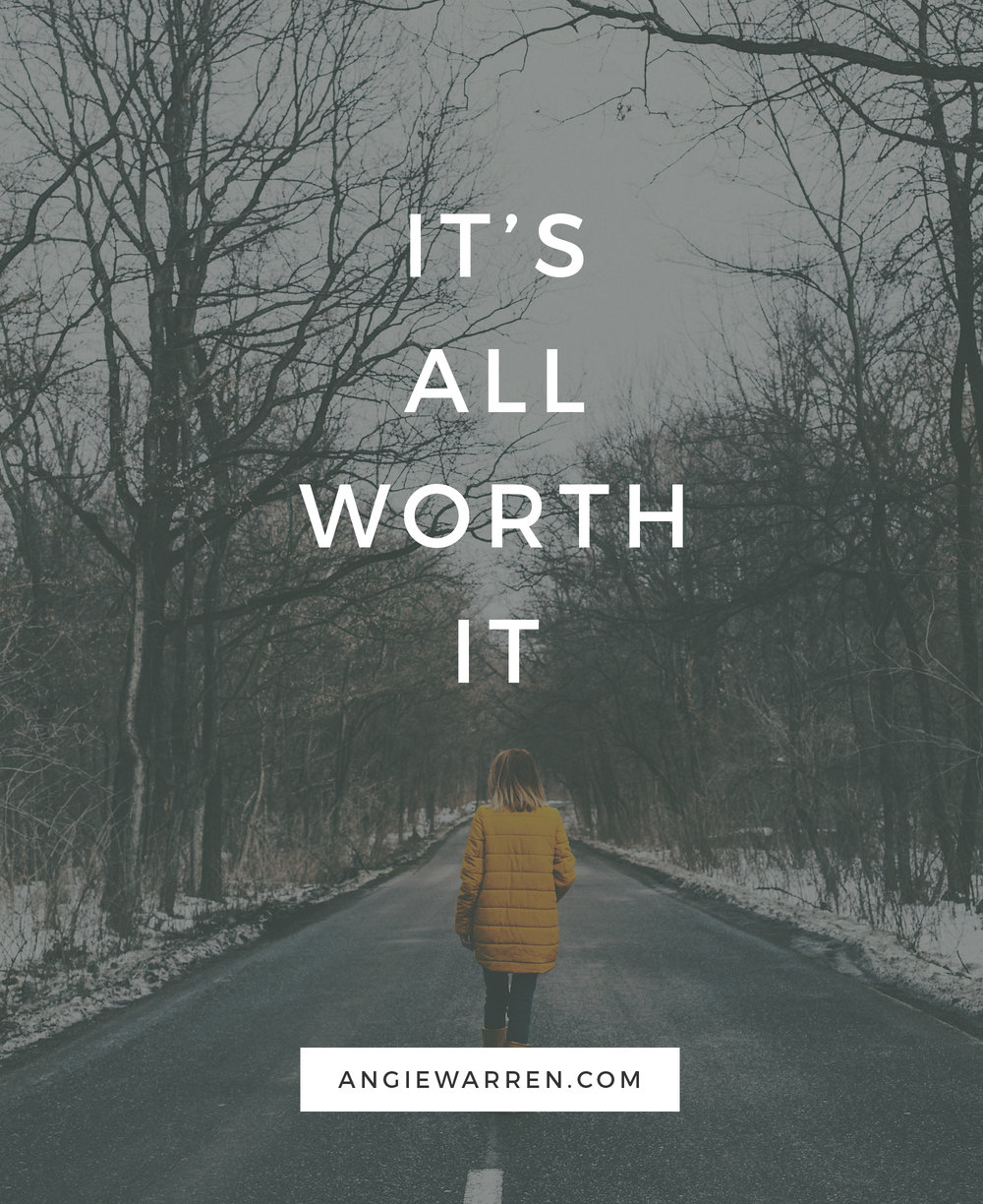 It's All Worth It - Monat - www.angiewarren.com