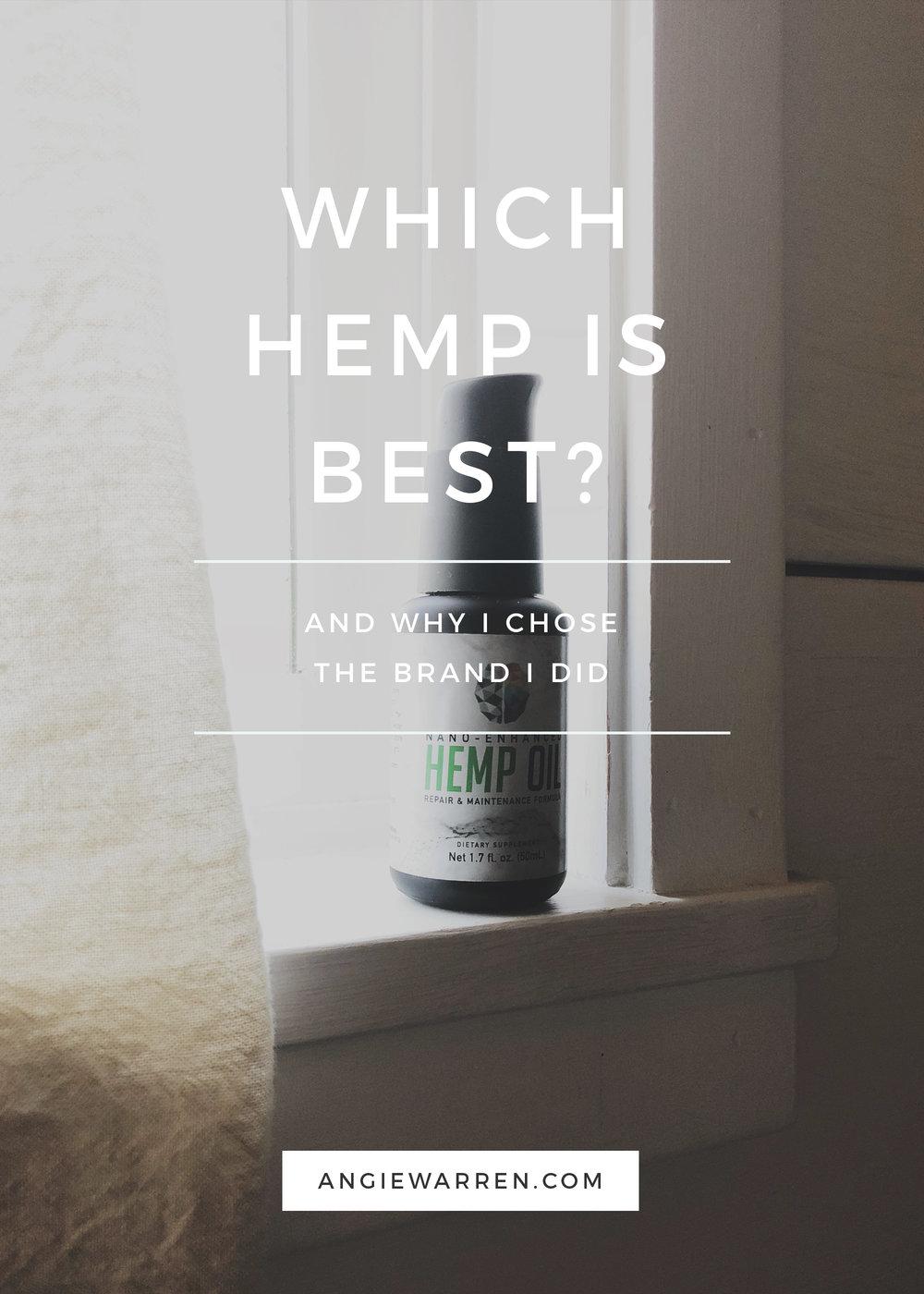 Hemp / CBD  - WHICH HEMP IS BEST - Prime My Body (www.angiewarren.com)