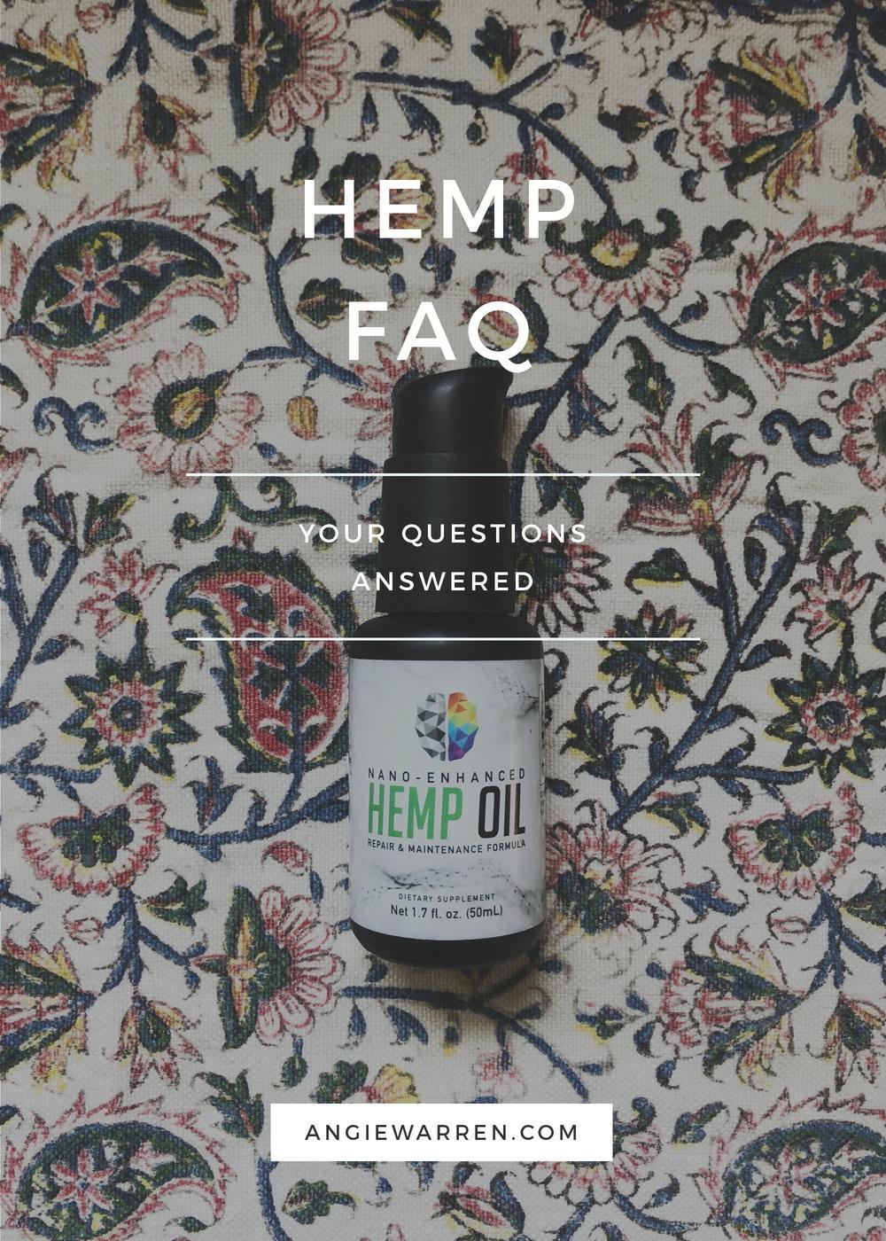 Hemp CBD Oil FAQ (www.angiewarren.com)