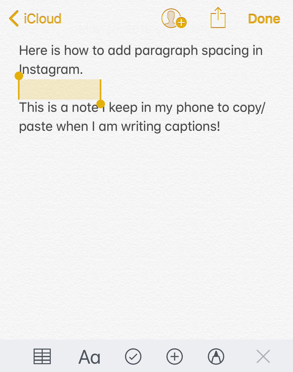 How to Add Paragraph Spacing to Your Instagram Captions // www.angiewarren.com