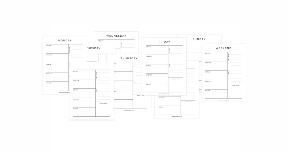 FREE 9-page Business Daily Planner PDF // Organize Your Day // www.angiewarren.com
