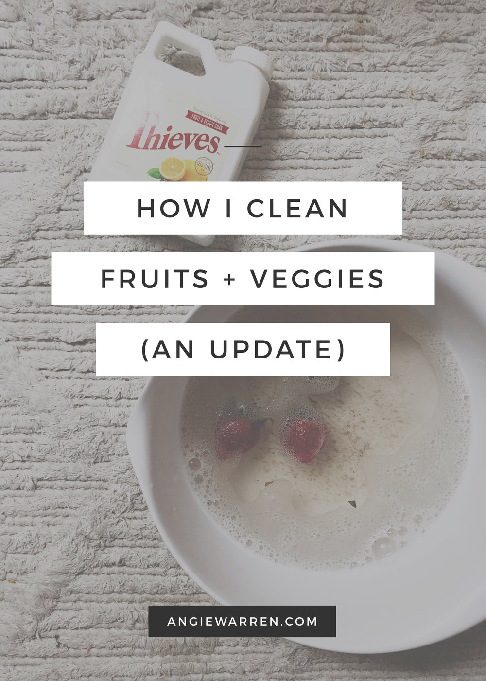 Natural Fruit + Veggie Cleaner / www.angiewarren.com